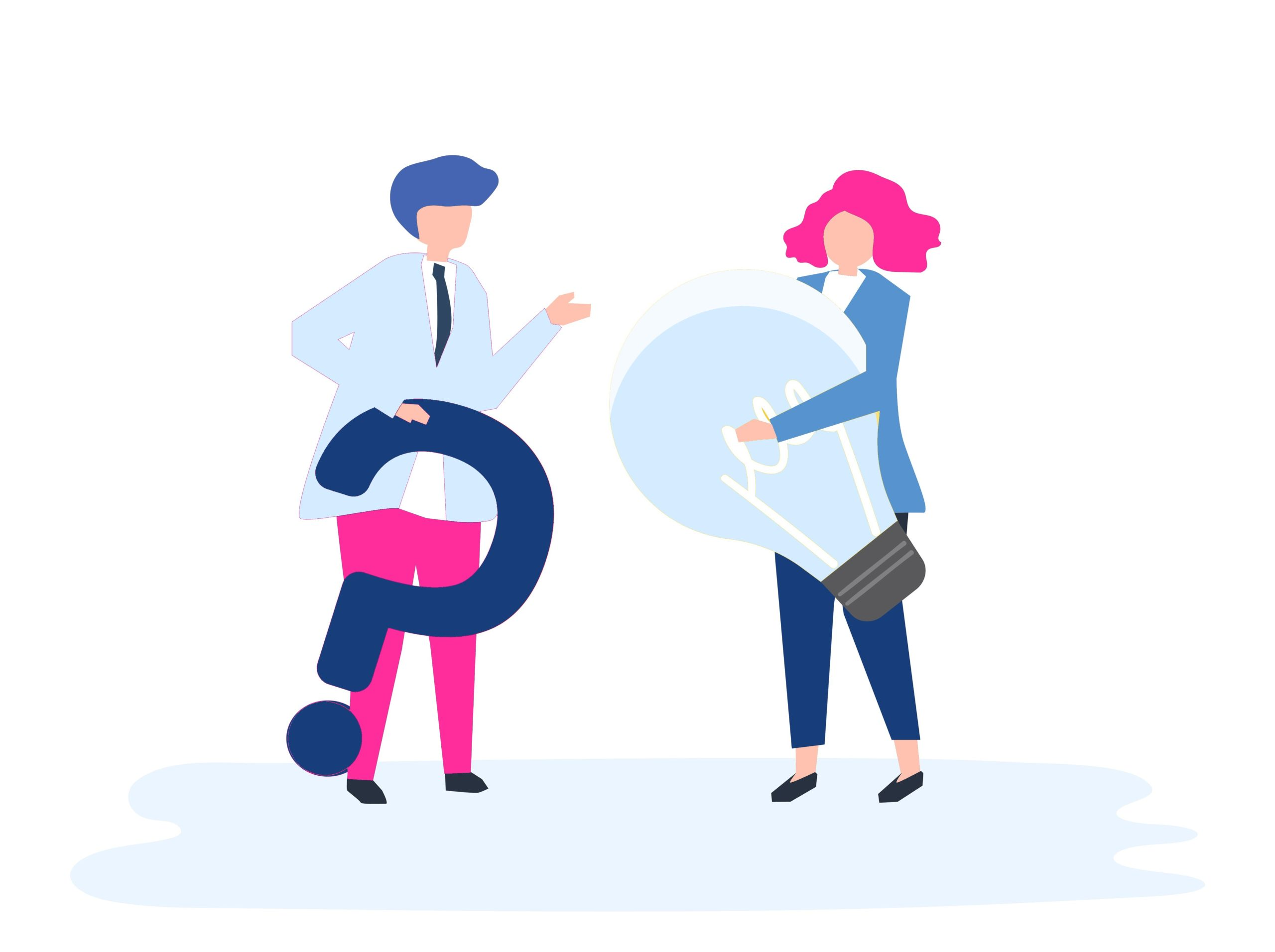 Illustration of people avatar business plan concept